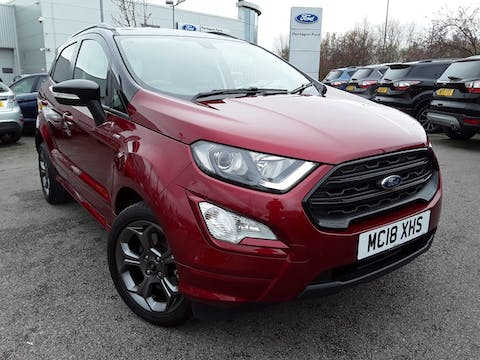 Ford EcoSport 1.0t Ecoboost St Line SUV 5dr Petrol Manual (s/s) (140 Ps) | MC18XHS
